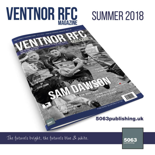 Ventnor RFC Magazine, Issue 4 Summer 2018